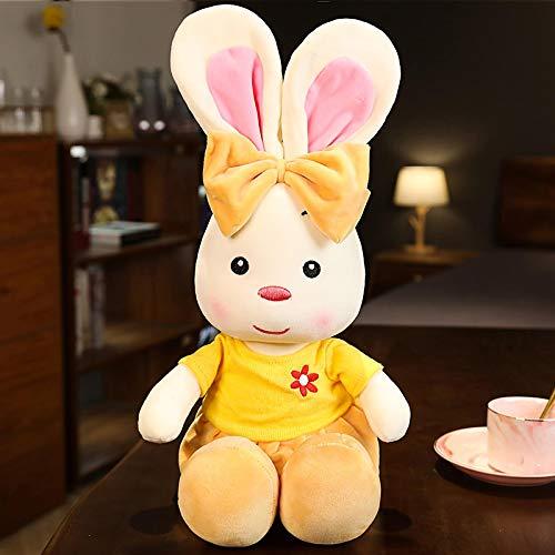 Juguetes interactivos de Peluche Lindo Conejo de Peluche de Juguete Suave muñeco de Peluche Lindo Conejo decoración de Dormitorio Chico Regalo 35 cm Amarillo