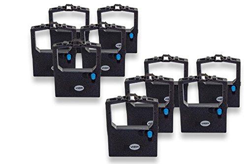 vhbw 10x Farbband Nylonband Tintenband für Nadeldrucker OKI Microline 3390, 3390 eco, 3391, 3391 eco, 380, 390 Plus wie 9002303.