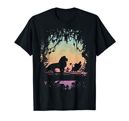 Disney Lion King Best Friend Trio Colorful Sunset Silhouette T-Shirt