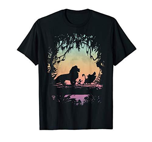Disney Lion King Best Friend Trio Colorful Sunset Silhouette T-Shirt
