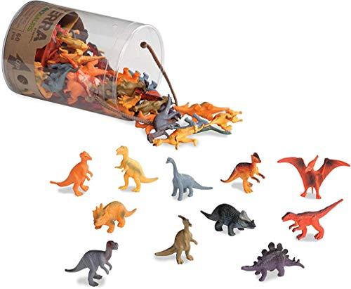 Terra by Battat AN6003Z 60-teilig Dinosaurier Figuren Sammlung Dinos Set – Tyrannosaurus Rex, Triceratops, Stegosaurus und mehr – Spielzeug ab 3 Jahren, Bunt