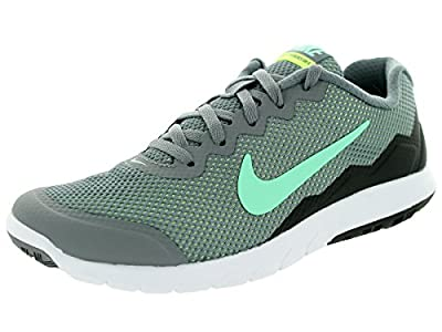 Nike Men's Flex Experience RN 4 (Cl Gry/Grn Glw/Anthrct/Ghst Gr) Running Shoe, 7.5 B(M) US