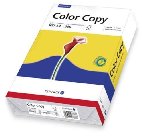 Papyrus 88007860 Drucker-/Kopierpapier, Farblaserpapier ColorCopy 100 g/m², A3, 500 Blatt hochglatt, hochweiß