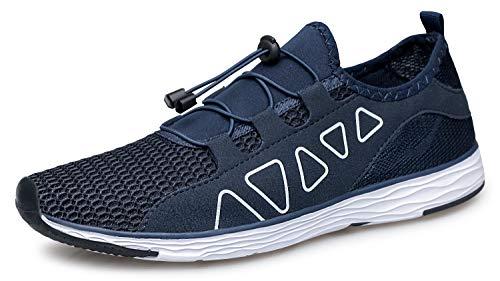 TIANYUQI - Zapatillas de agua para la playa y el gimnasio, para exteriores, con patas desnudas, secado rápido, para natación, verano, Azul (azul), 44.5 EU