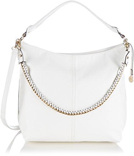 L.CREDI Handtasche 309-4192 Damen Schultertaschen 32x36x16 cm (B x H x T), Weiß (Weiss)