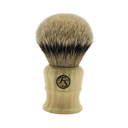 Super Large 30mm Silivertip Badger Hair Shaving Brush Handmade by Frank Shaving Faux Ivory Color Handle