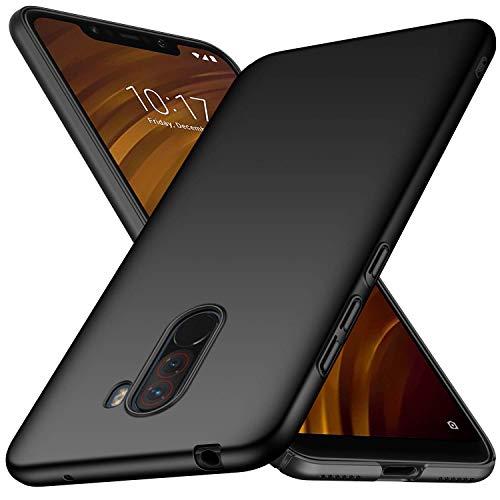 Toppix Cover per Xiaomi Pocophone F1, Custodia Rigida Ultra Sottile [Anti-Graffio] Superficie Opaca Custodia per Xiaomi Pocophone F1 (Nero)
