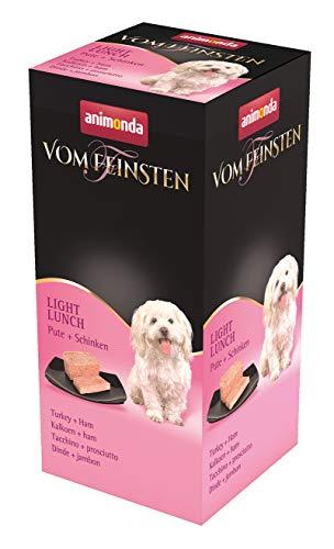 animonda Vom Feinsten Adult Hundefutter, Nassfutter für ausgewachsene Hunde, Light Lunch Pute + Schinken, 6 x 150 g