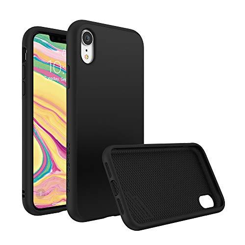 RhinoShield Coque Compatible avec [iPhone XR] | SolidSuit - Housse Fine avec Technologie Absorption des Chocs & Finition Premium - Noir Classic