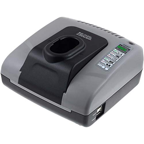 Powery Cargador de batería con USB para Bosch Cortasetos AHS3 Accu