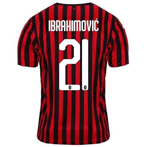 Puma AC Milan, Maglia Home Replica 2019/2020 Ibrahimović, Tango Red/Puma Black, Uomo, L