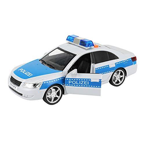 Toi-Toys Cars & Trucks Polizeiauto, Polizeibus, Modellauto Polizei mit Sirene und Rückzugmotor (Polizeiauto)