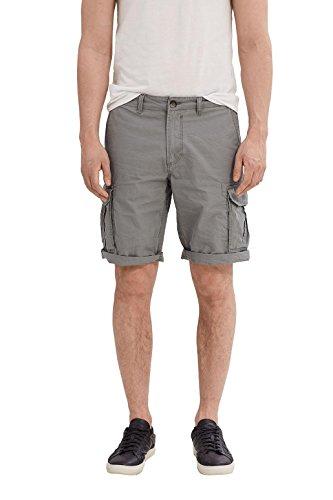 ESPRIT Herren 037EE2C009-Cargo Shorts, Grau (Gunmetal 015), W28