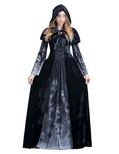 THEE Adultos Disfraz de Bruja Diablo para Halloween (XL)
