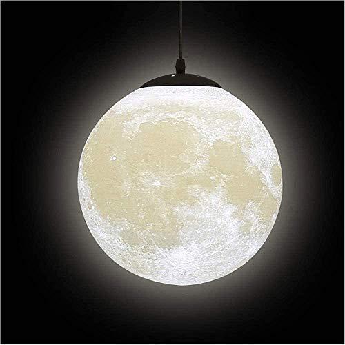 Hines Lámpara Colgante Impresión 3D Creativa Luces Colgantes de Luna - Planeta Lámpara de Noche de Techo Linterna Restaurante Bar Hogar Dormitorio de niños E27 Lámpara de araña