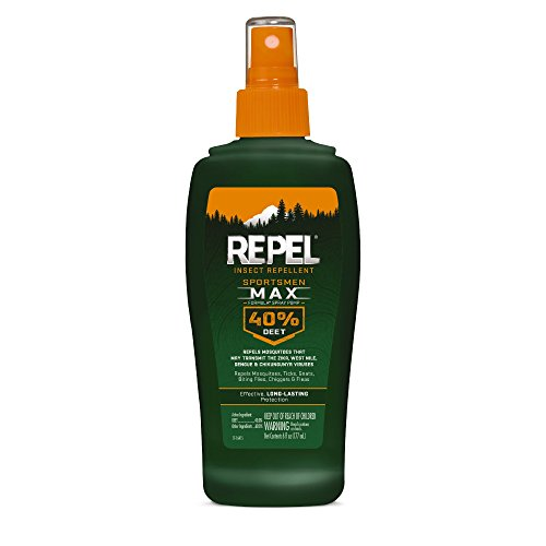 Repel 94101 HG-94101 Bee Sportsmen Max Formula Spray Pump 40% DEET, 6 fl oz, One Size/6 oz