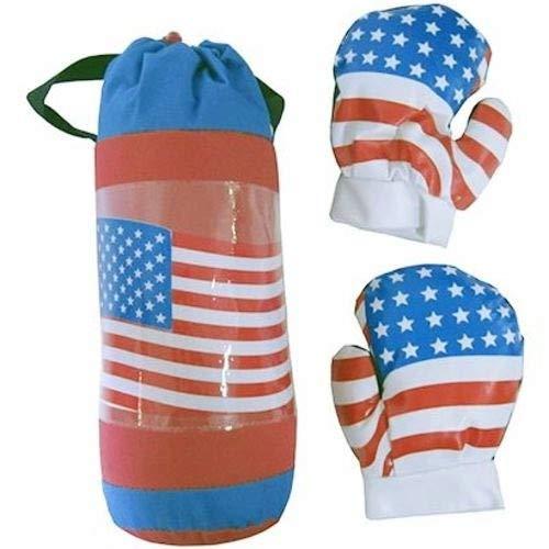 KIT SACO DE PANCADAS E LUVA DE BOXE INFANTIL MUAY THAI USA Kit Saco de Boxe Infantil 32Cm Luvas