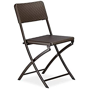 2-Pack Chicreat Heavy-Duty Plastic Folding Chair for Indoor and Outdoor 45.7 x 45.5 x 78cm