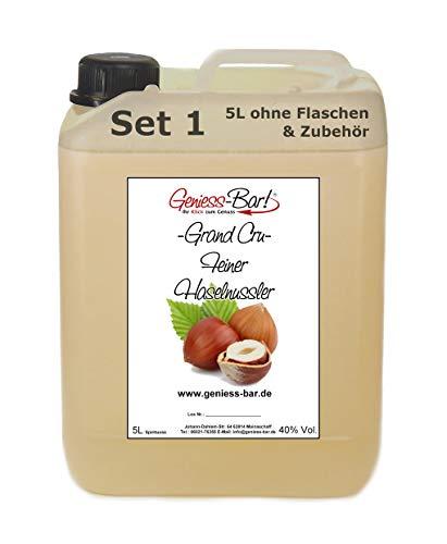 Grand Cru Feiner Haselnussler 5L sehr mild nach Nuss & Nougat Schnaps Obstler 40% Vol.