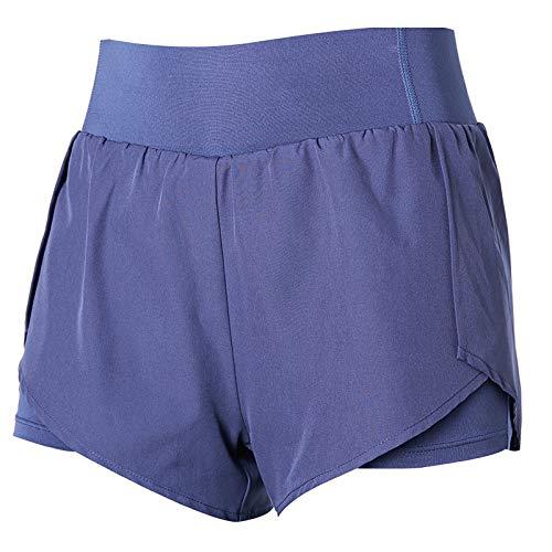 Pantaloncini Sportivi Dimagranti Allentati antiriflesso Estivi da Donna Asciugatura Rapida Pantaloncini Felpati Finti in Due Pezzi per Allenamento Yoga Large