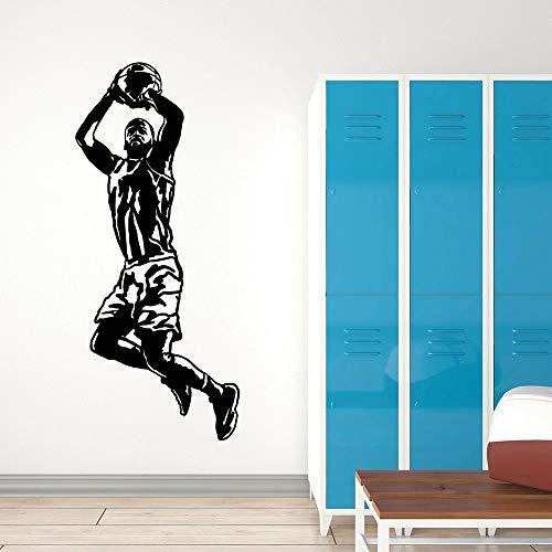 HGFDHG El nombre y el número del jugador de baloncesto saltando pared niño habitación de niños fresco deportes bola decoración