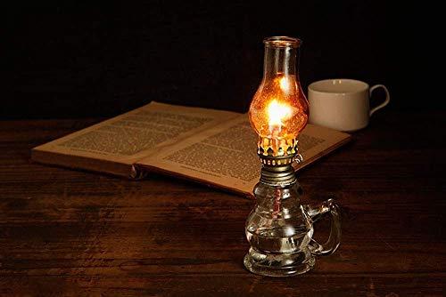 GOHHK Lámpara de Queroseno de Vidrio Vintage Tienda de campaña Lámpara de Camping Lámpara de Aceite de Vidrio Decoraciones navideñas Fotografía Prop Iluminación
