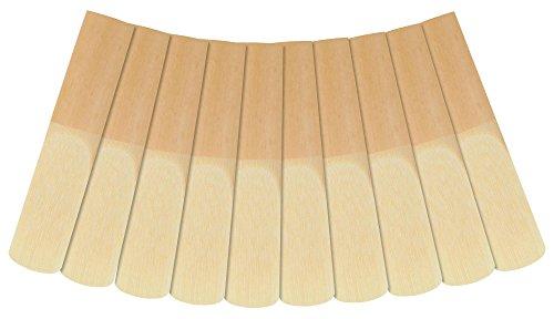 Classic Cantabile ASB-20 10er Pack Altsaxophon Blätter (Stärke: 2.0, Es-Stimmung, deutscher Schnitt, langlebig, Schilfrohrholz, einzeln verpackt in Kunststoffhüllen)