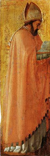 "Masaccio Saint Augustus from The Pisa Altarpiece 1426 Gemaldegalerie Staatliche Museen zu Berlin 24"" x 8"" Fine Art Giclee Canvas Print (Unframed) Reproduction"