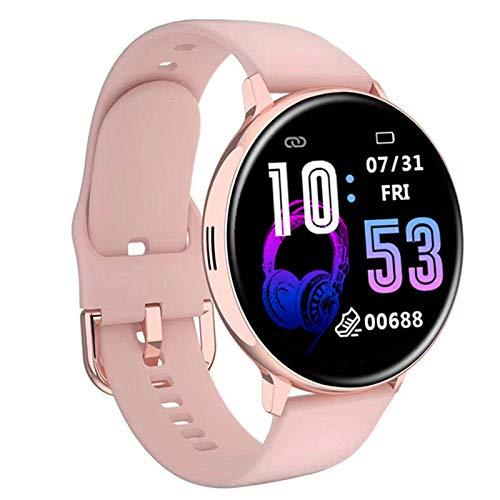 Smartwatch da Donna Full Touch,Menu Dual UI con Musica Chiamata Bluetooth,Braccialetti Sportivi da Uomo,Monitoraggio Della Salute Del Cuore IP67 Impermeabile,Passaggi Di Esercizio,Calorie,Pink