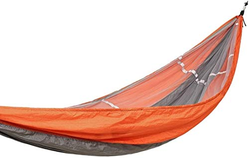 Hammocks, Double camping hammock - Lightweight nylon portable hammock, best parachute double hammock backpack, camping, travel, beach, courtyard, Orange The latest style, simple Outing Campin XYXG