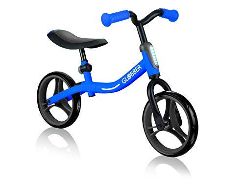 Globber Go Bike Draisena, Unisexo, Bleu foncé, Réglable en Hauteur