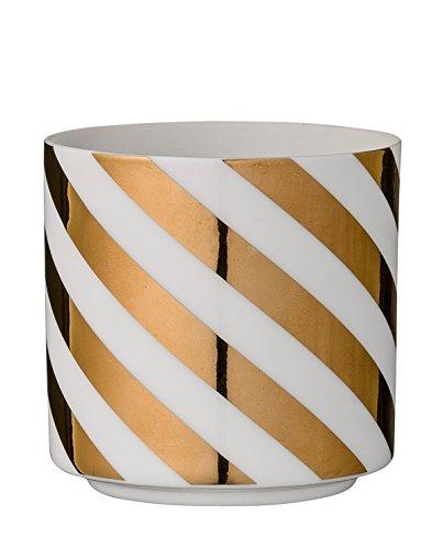 Bloomingville Teelichthalter Streifen Gold One Size