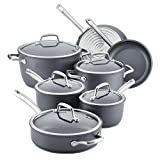 Anolon 81133 Accolade Hard Anodized Nonstick Cookware Pots and Pans Set, Aluminum, Moonstone