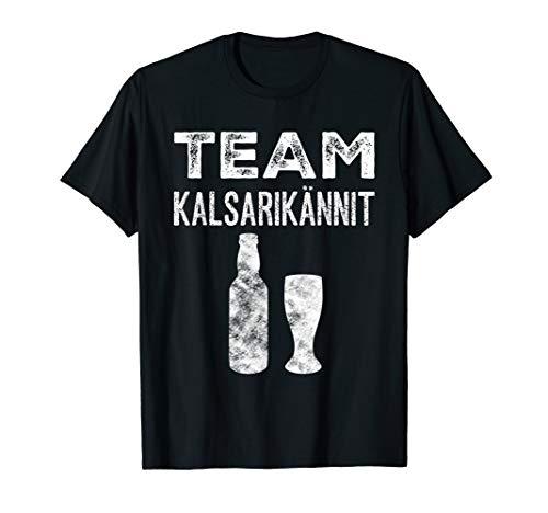 Team Kalsarikännit Finnland T-Shirt für Biertrinker