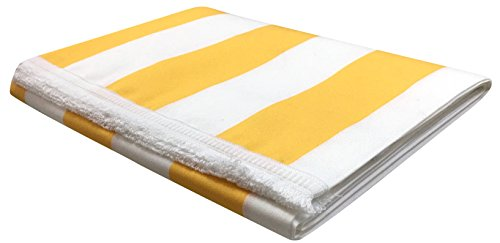 Sonnensegel mit Fransen und patentierten Ringen Dralon-Acrylfaser Dralon Schichten oder gestreift Größen 140x 250cm–140x 300cm–verschiedene Farben, gelb