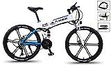 HSART 26'' Elektrisches Mountainbike Elektro Fahrräder Abnehmbarer Lithium-Ionen-Akku mit Großer Kapazität (36V, 350W), E-Fahrrad 27-Gang Getriebe DREI Arbeitsmodi,Weiß