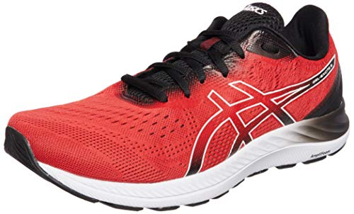 Asics Gel-Excite 8, Road Running Shoe Hombre, Classic Red/White, 43.5 EU