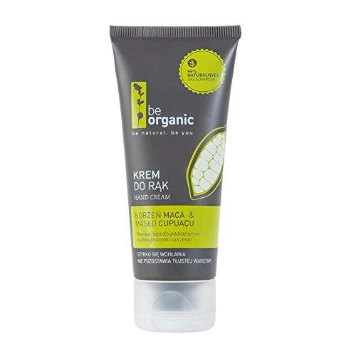 Be Organic, Handcreme Maca & Cupuacu Butter, 50ml - natürliche Handcreme spendet Feuchtigkeit und regeneriert. 99% Inhaltsstoffe natürlichen Ursprungs. Vegan, hypoallergen