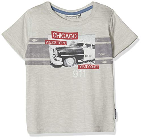 Salt & Pepper Jungen 03112190 T-Shirt, Grau (Stone 213), 128 (Herstellergröße: 128/134)
