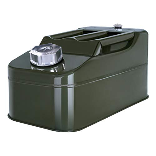WUDAXIAN Bidón de Metal portátil 5L-20L con Tanque de Combustible con Mango de 3 Barras, Tanques de Combustible de Emergencia para Motocicleta, SUV, ATV, Bici, Coche, Barco,5L