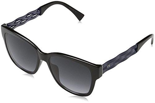 Dior Damen Diorribbon1N 9O Ugo 55 Sonnenbrille, Schwarz (Black Blue/Grey)