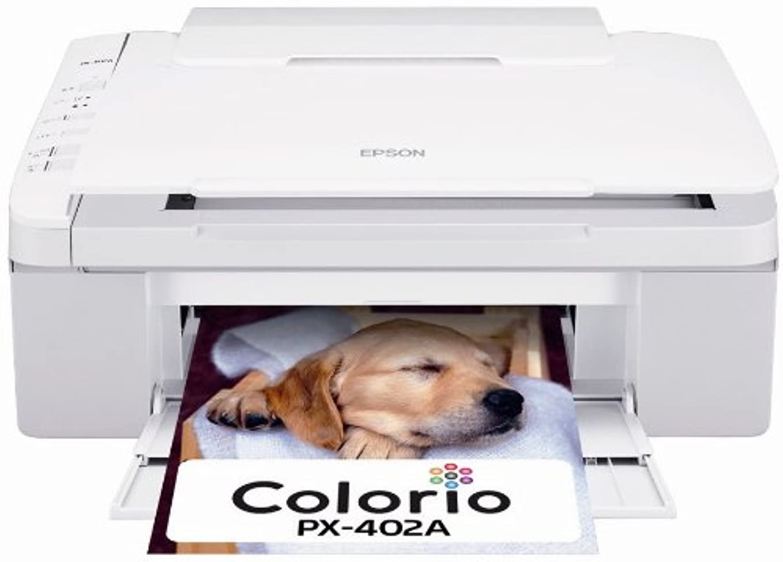 勇気モンキーまもなくEPSON Colorio インクジェット複合機 PX-402A 普通紙くっきり 4色顔料インク