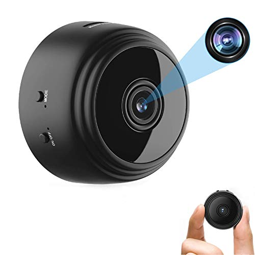 OVEHEL Spy Camera Wireless Hidden HD 1080P Small Security Video Camera Mini Nany Cam with Night Vision and Motion Activated Indoor Use Security Cameras Surveillance Cam for Car Home Office