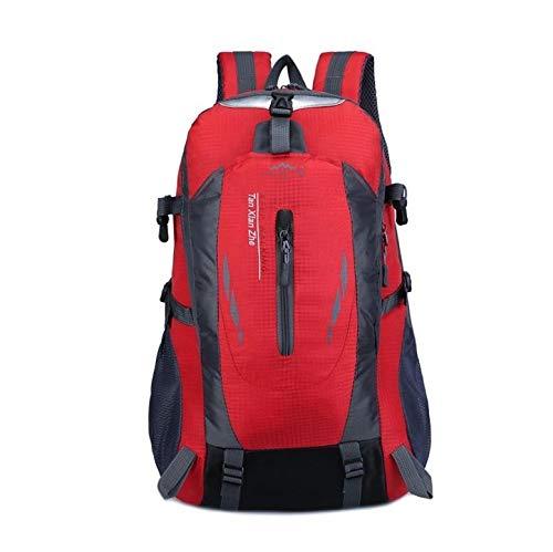 LBLB ASG Sac de Grande capacité for l'alpinisme de Voyage for Hommes et Femmes Sports de Plein air Loisirs Nylon Sac à Dos étanche (Couleur : Red)