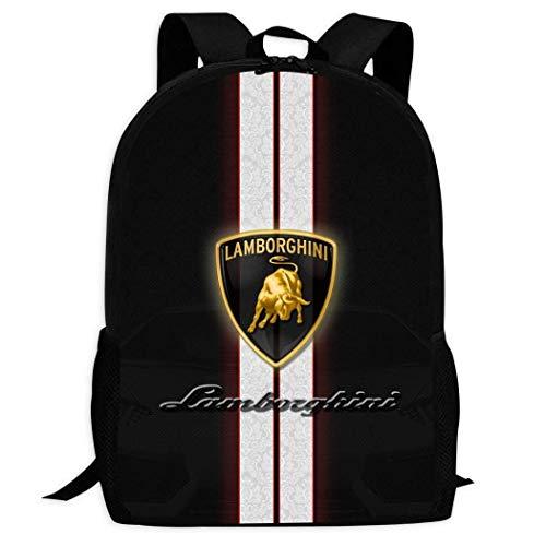Hengtaichang Unisex Children Backpack Lam-borghini Logo Student Schoolbag Pupils Daypack