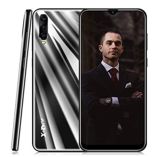 Smartphone Ohne Vertrag,Xgody A90 Handy mit 6.53 Zoll HD(19:9) Wassertropfen Bildschirm,Android 9.0 Mobile Phone,Dual SIM Frei Entriegelt Handy,2GB RAM + 16GB ROM (Schwarz)