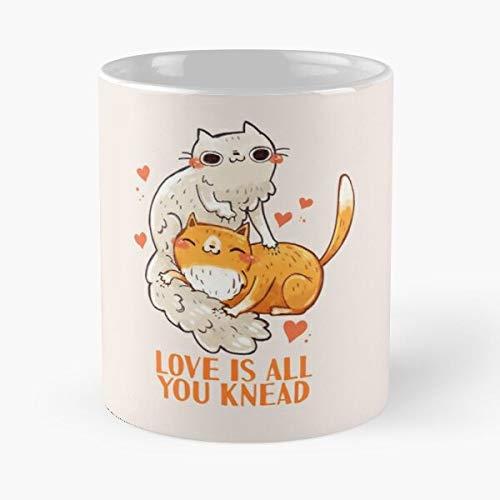 LOL Cup Kawaii Lady Cats Cute Kittens Cat Animals Best Taza de café de cerámica de 325 ml