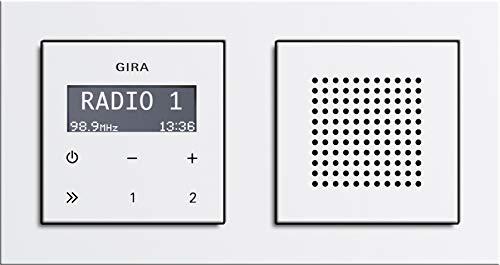 Gira RDS Unterputzradio mit Lautsprecher und E2 Rahmen reinweiß glänzend