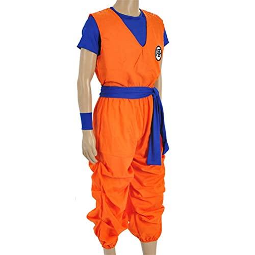 DEALBUHK Disfraces de Cosplay, para Anime Series Mens Plus Tamaño Dragon Ball Z Goku Costume Goku Traje de Dragon Ball Z Cosplay Costume Top Pantalones con cinturón Exquisito y Hermoso (Size : L)