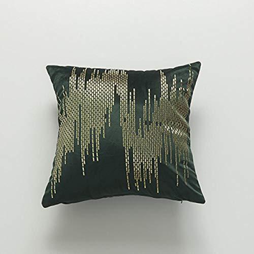 BEPM Cushion Cover Cushions For Sofa Decorative Pillows Soft Velvet Cushion Cover Abstract Rivet Home Decorative Pillow Cover For Home Sofa Bed 45X45Cm Yellow Red Dark Green Grey Brown-Dark Green